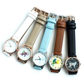アニマルモチーフ レディース腕時計 シロクマ インコ ネコ ゾウ クジラ 日本製ムーブメント カジュアル ツナヨシ