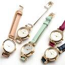 5パターンアイコン細身ベルト レディース腕時計 シンプル フラワー ハート クローバー リボン スター 三針 ホワイト …