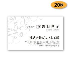 【送料無料】【名刺 作成】モノクロビジネス名刺-横17 20枚【デザイン 制作】【送料無料】 ショップカード シンプル ビジネス ポイントカード スタンプカード 人気デザイン 両面(裏面)印刷は別料金