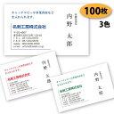 【送料無料】【名刺 作成】ビジネス名刺-横15 100枚【デザイン 制作】【送料無料】 ショップカード シンプル ビジネス ポイントカード…