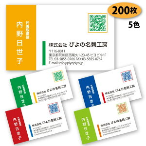 【送料無料】【名刺 作成】 パターン名刺-10 200枚 QRコード【デザイン 制作】【送料無料】 ショップカード ポイントカード スタンプカード シンプル ビジネス 両面(裏面)印刷は別料金
