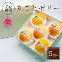 【送料無料】丸ごとゼリー 5個入り 丹波篠山 諏訪園 お菓子 洋菓子 ゼリー 高級 ギフト プレゼント かわいい お取り寄…