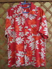 【テレビ番組衣装提供実績あり】花柄赤色のアロハシャツかりゆしウェア