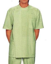 白衣 ケーシー 男性 メンズ シワになりにくい素材 KC 横掛 半袖 白衣 グリーン色 緑 診察衣 手術衣 看護服 介護衣 医療用 モンブラン 大きいサイズ montblanc/72-708 | ユニフォーム おしゃれ【ラッキーシール対応】