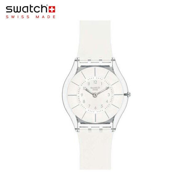 【公式ストア】Swatch スウォッチ WHITE CLASSINESS ホワイト・クラシネス SFK360Skin (スキン) Skin Classic (スキンクラシック) 【送料無料】レディース/腕時計/人気/定番/プレゼント