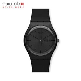 【公式ストア】Swatch スウォッチ BLACK REBEL ブラック・レベル SUOB702Originals (オリジナルズ) New Gent (ニュージェント) 【送料無料】メンズ 腕時計 人気 定番 プレゼント