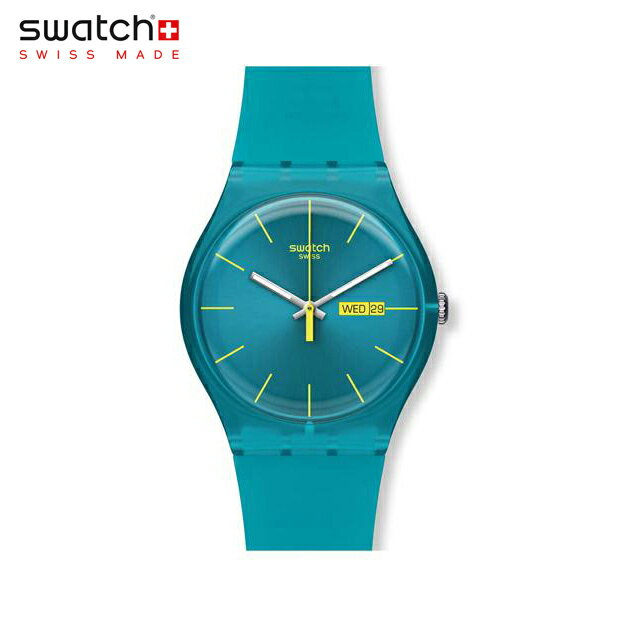 【公式ストア】Swatch スウォッチ TURQUOISE REBEL ターコイズ・レベル SUOL700Originals (オリジナルズ) New Gent (ニュージェント) 【送料無料】メンズ 腕時計 人気 定番 プレゼント