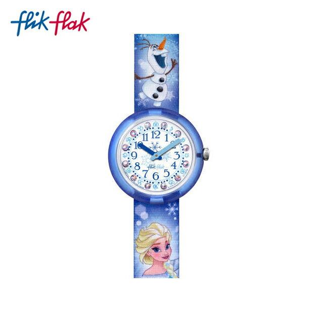 """【公式ストア】Flik Flak フリックフラック Disney Frozen Elsa & Olaf ディズニーアナと雪の女王""""エルサ&オラフ"""" FLNP023Swatch スウォッチ Friends & Heroes (フレンズ&ヒーローズ) 【送料無料】キッズ/ガールズ/腕時計/人気/定番/プレゼント"""