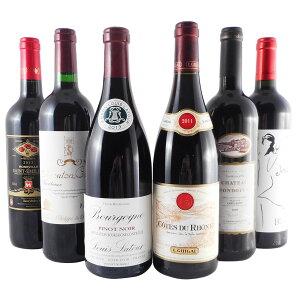 お酒 バレンタイン ギフト ワインセット フランス 赤ワイン フルボディ チーズと楽しむ 6本セット 赤ワイン 送料無料 コンビニ受取対応商品 飲み比べセット プレゼント ラッキーシール対応