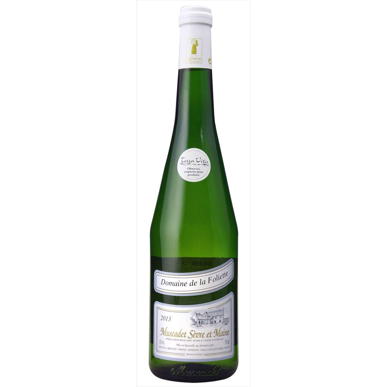 父の日 プレゼント ギフト ミュスカデ セーヴル エ メーヌ Dom.ド ラ フォリエット ドメーヌ ド ラ フォリエット 白 750ml 12本 フランス ロワール 白ワイン 送料無料 コンビニ受取対応商品 ヴィンテージ管理しておりません、変わる場合があります ラッキーシール対応