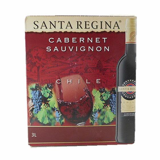【お年賀 ギフト】サンタレジーナ カベルネソーヴィニヨン BIB(バッグインボックス) 赤 3L チリ 赤ワイン 空気の流入が抑えられ、フレッシュな状態を保てるボックスワインですヴィンテージ管理しておりません、変わる場合があります