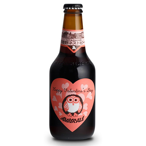 【お歳暮 ギフト】常陸野ネストビール アンバーエール バレンタインラベル 330ml×24本 茨城県 木内酒造 ビール 国産クラフトビール・地ビール ケース販売 楽ギフ_のし