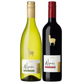 お酒 お歳暮 ギフト 極旨チリワイン アルパカ シャルドネ・セミヨン&カベルネ・メルロー 赤白 ワインセット 750ml 2本 チリ 白ワイン 赤ワイン 送料無料 楽ギフ_のし 結婚祝い 内祝 お歳暮 プレゼント