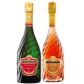 お酒 お歳暮 ギフト ツァリーヌ キュヴェ・プレミアム ブリュット&ロゼ 白ロゼ ワインセット 750ml 2本 フランス 白ワイン ロゼワイン 送料無料 楽ギフ_のし 結婚祝い 内祝 お歳暮 プレゼント