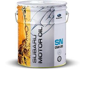 SUBARU(スバル) エンジンオイル SN 0W-20 20Lペール缶 出光興産 K0225Y0274 【白缶】