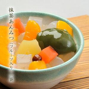 夏の定番抹茶あんみつ フルーツ入り寒天 かんてん 抹茶 お茶の香り 宮城県  カロリー 控えめ ほどよい甘さ 黄桃 パイナップル みかん