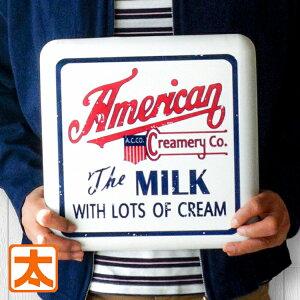 アメリカン雑貨 キッチン 牧場 牛乳 メタル看板h30 ファーム ミルク ポスター インテリア バター チーズ ヨーグルト 生クリーム アイスクリーム ソフトクリーム みるく サインボード サイン