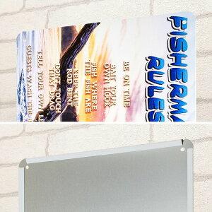 ブリキ看板釣りfiポスターインテリアフィッシングブラックバスアウトドア壁飾り雑貨小物男前絵画一人暮らし店舗用ポイント消化メール便