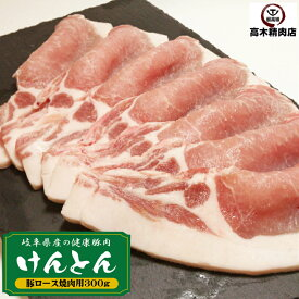豚肉 ロース焼肉 300g岐阜県 けんとん豚 生姜焼 国産 豚肉 味噌漬け 肉の日 豚 ぶた ロース BBQ 焼肉