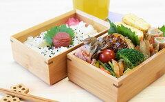 二段弁当箱【竹のお弁当箱|日本のお弁当箱|お手入れ簡単】
