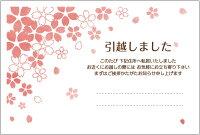 5枚入り引越はがき(桜ひらひら)ポストカード転居ハガキ(yeah)【メール便選択可】