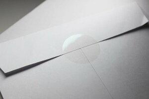 封印シール25mm丸形(200枚入)透明業務用封印シール2.5cm【4シート入(1シートに50枚)】日本製【メール便送料無料】