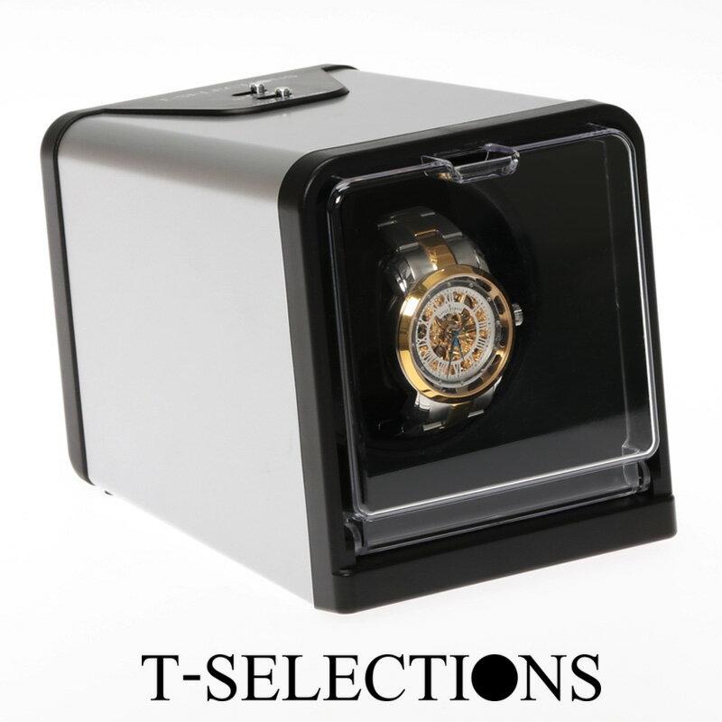 T-SELECTIONS ワインディングマシーン 1年保証 静音 ギア駆動 1本巻上げ 4モード T-005112 3色展開 自動巻き上げ機 ウォッチワインダー