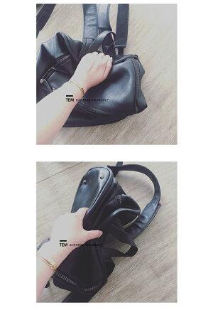 牛革軽量本革レザーレディースリュックサック可愛い女性ギフト旅行ブラック黒色新品