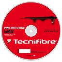 テクニファイバー プロ レッドコード ワックス 200Mロール (120/125/130) 硬式テニス ポリエステル ガット(TECNIFIBRE RED CODE WAX 200M Reel)【20