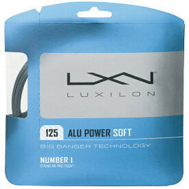 【12Mカット品】ルキシロン アルパワー ソフト(1.25mm)硬式テニスガット ポリエステルガット(Luxilon ALU POWER SOFT 16L(1.25)String)【2015年6月登録】