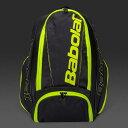 【ラケット収納可】2017 バボラ ピュア バックパック 753047-232 ( 2017 Babolat Pure Backpack) 【2017年1月】(ブラック/フルオイエロー)