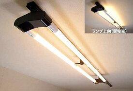 KRS-2A-BK-SET-L カメダデンキ カメダレールソケットW電球色LEDランプセット 配線ダクト用LEDベースライト2灯タイプ [LED電球色ブラック] あす楽対応