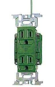 WN1318GK パナソニック フルカラー配線器具・電材 病院・医療施設向けコンセント 医用アース付ダブルコンセント (緑)