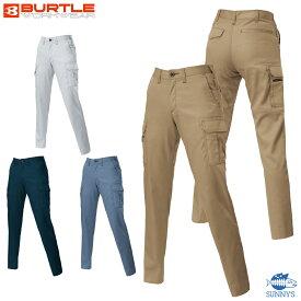 【正規品】【6109】BURTLE バートル レディース 3L-4L カーゴパンツ ズボン 優れた洗濯性能 日本製ヘリンボーンブラック デザイン 作業服 作業着 激安 メンズ レディース