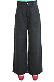 INDIMARK インディマーク リネン ワイドパンツ(ブラック) W112-1