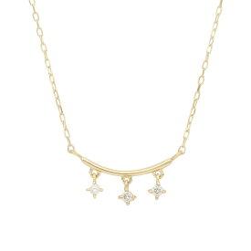 me.luxe エムイーリュクス K10 ダイヤモンド ネックレス 95-1290