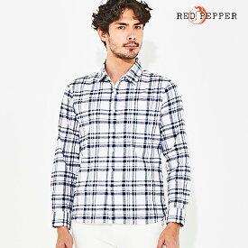 レッドペッパージーンズ RED PEPPER JEANS メンズ モノトーンチェックシャツ No.81MS-24