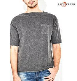RED PEPPER JEANS レッドペッパージーンズ メンズミニ裏毛ピグメント5分袖Tシャツ 81MT-32