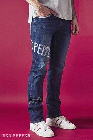 レッドペッパージーンズ RED PEPPER JEANS メンズ ハンドペイント セミストレートデニム No.RJ2072