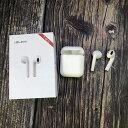 【送料無料】Bluetooth 5.0 ワイヤレスイヤホン トゥルーワイヤレス ホワイト 充電ケース付 i10-max 完全ワイヤ…