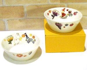 ムーミン ペア ボウルセット 「ハーバリウム」 0221-16(MOOMIN プレート 皿 可愛い おしゃれ 結婚祝い 新築祝い プレゼント)