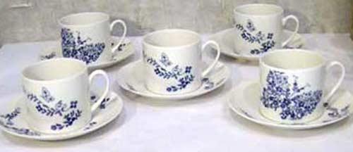 ハナエ・モリ コーヒー碗皿 (カップソーサー) 5組セット ★TKコレクション★ 0623-31