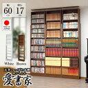 本棚 奥行17cm薄型 天井つっぱり本棚「愛書家」本体