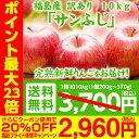 【クーポン使用で20%OFF×ポイント14倍】訳あり 福島県産りんご 10kg(26玉〜35玉) サンふじ 送料無料 ご注文時期に合…