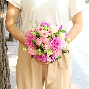 アレンジメント Loulou ピンク 白 紫 ギフト 誕生日 バラ フラワー 別途送料 生花 結婚祝い 結婚記念日 お彼岸 敬老の日 プレゼント 【クール送料込】