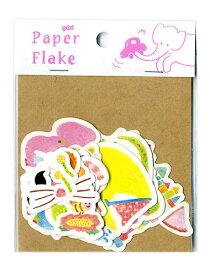 子どもにピッタリのデコレーションでアルバム作りをもっと楽しく!ひげ・ネコ耳・ステッキ・ぞう・車・ヨットなどかわいいイラストシート27種。スクラップブックにもぴったり。Paper Flake(APF-06):キッズ