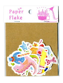 誕生日アルバムにぴったり!バースデーグッズのデコレーション第1弾ケーキ・ろうそく・花束・音符・クラッカー・プレゼントボックスなどかわいいイラストシート27種。スクラップブックにも。Paper Flake(APF-07):バースデー