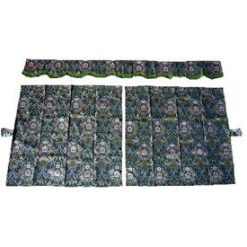 金華山 3点式センターカーテン 花かご 1150×1100mm 2枚入(波型前飾り付) 4t〜大型用