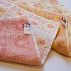 日本製 おしゃれ 和柄タオル 梅(うめ) ハンドタオル ピンク イエロー 花柄 かわいい 今治タオル おしゃれ 綿100 御中元 お歳暮 タオル