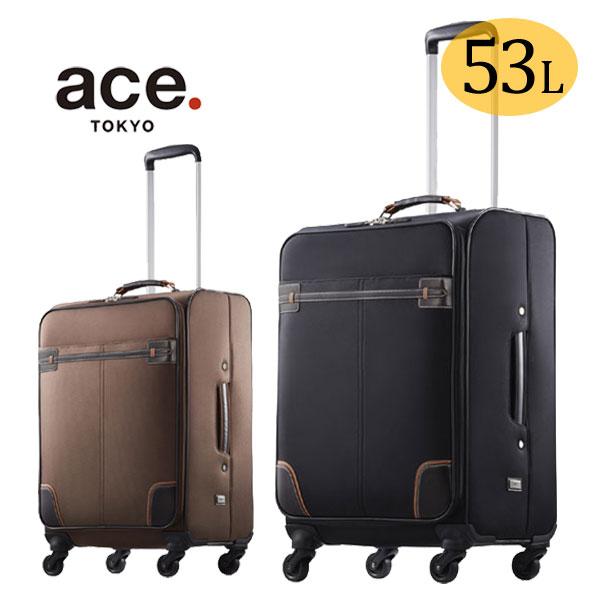 ソフトキャリーケース エース ace.TOKYO LABEL グラレーン 3〜4泊 55cm 53L ソフトトローリー 35713 TSAダイヤル錠 ACE スーツケース 正規品